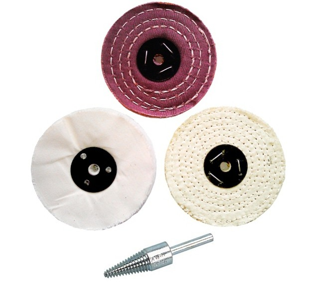 "Polishing Wheel Kit 4"" x 1/2"""