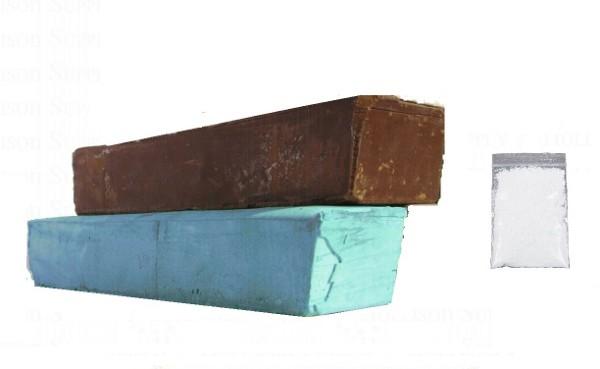 Polishing Compound Kit for Aluminium, Brass - 750g Bars