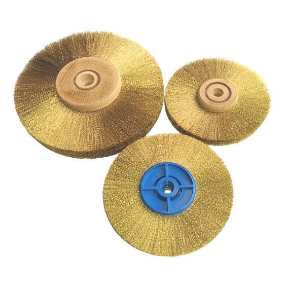 Brass Vertex Wire Wheels - Stepped Bore