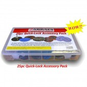 Abracs 25pc Quick-Lock Abrasives Accessory Pack