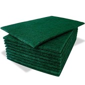 "Green Scouring Pads 9""x 6"" (150mm x 230mm)"