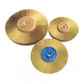 Brass Vertex Wire Wheels - Stepped Bore
